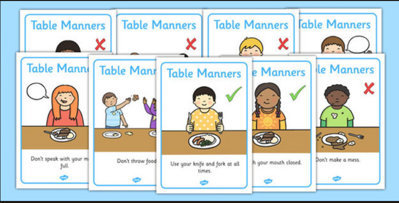 table manners video